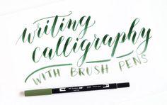 Using Brush Pens for