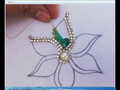Hand Embroidery/Amazing Flower Embroidery with BeadsBeads Embroidery Work