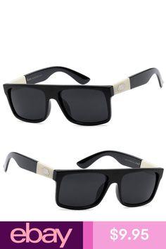 6c01e8c5ab1 New Locs Mens Cholo Flat Top Sunglasses Black Frame   Black Lens