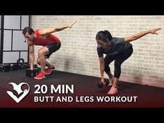 20 Min Butt and Legs Workout for Women & Men - Home Leg, Glutes, Butt and Thigh Workout w/ Dumbbells - YouTube