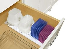 YouCopia StoraStack Food Container Storage Organizer, Drawer Solution
