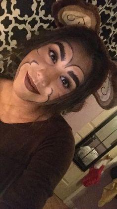 Monkey makeup for Halloween :)