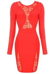 POSH GIRL Mae-W Red Bandage Dress