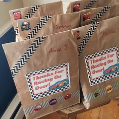 CARS Favor Bags: CARS Themed Birthday Party | Disney Baby
