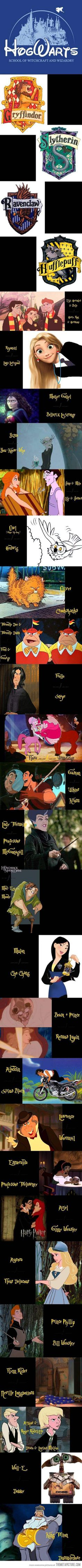If Harry Potter was made by Disney…haha cute