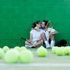 A cute session tennis vintage. Could be so cute for an engagement shoot!