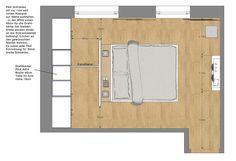 Schlafzimmer Wohnung P. | Betthaupt als Raumteiler: moderne Schlafzimmer von Innenarchitektur | Ina Nimmrichter