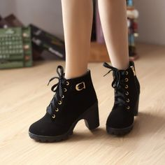 High heel boots Women boots 2016 fashion warm winter women ankle boots shoes