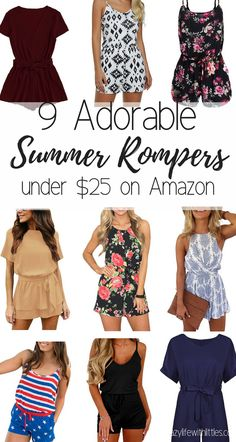summer trends for women, summer rompers, womens rompers, summer fashion for moms Casual Outfits, Summer Outfits, Fashion Outfits, Womens Fashion, Rompers Women, Jumpsuits For Women, Women's Rompers, Black And White Romper, Romper Outfit