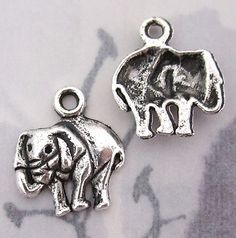 casted pewter elephant charms 14x12mm - f2851