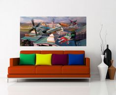 Disney Planes Kids Wall Mural By WallandMore. Top Quality Products!