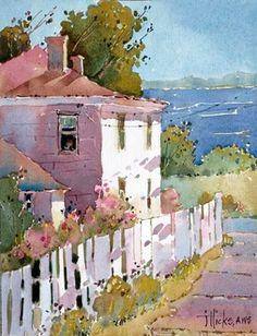 Simply Sensational Seaside Watercolor Paintings - Bored Art