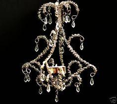 Teelichthalter Mini Kronleuchter VI mit Perlen 1x  Preishammer