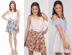 look-violetta! Viajei no teu look Casual School Outfits, Cute Teen Outfits, Disney Outfits, Outfits For Teens, Girl Outfits, Fashion Outfits, Violetta Disney, Violetta Outfits, Disney Channel