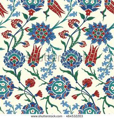 Traditional Arabic ornament seamless for your design. Floral ornamental seamless pattern for ceramic tile, desktop wallpaper, interior decoration, wrapping paper, graphic design and textile. Turkish Pattern, Oriental Pattern, Islamic Art Pattern, Pattern Art, Pattern Fabric, Textile Patterns, Textile Prints, Floral Patterns, Ceramic Tile Art
