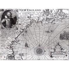 Trademark Art 'Coast of New England, 1614' Canvas Art by John Smith, Size: 18 x 24, Multicolor