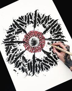 Dark Drawings, Tattoo Drawings, Tattoo Fonts, Lettering Tattoo, Calligraphy Artist, Sailor Moon Art, Goth Art, Mandala Drawing, Black Letter
