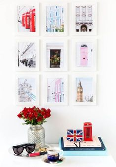 Awesome 47 Totally Inspiring Home Office Wall Décor Ideas. More at https://homyfeed.com/2018/08/22/47-totally-inspiring-home-office-wall-decor-ideas/ Affordable Home Decor, London Decor, London Wall, Room London, Office Wall Decor, Office Table, Home Office, Cute Wall Decor, London Theme Bedrooms
