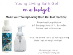 DIY recipe for chemical free body wash or bath gel using Young Living essential oils! More at Easy DIY recipe for chemical free body wash or bath gel using Young Living essential oils! Young Living Bath, Young Living Lavender, Young Living Oils, Young Living Essential Oils, Shower Foam, Shower Gel, Essential Oils Guide, Bath Gel, I Love Makeup