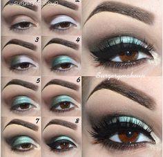 Green smoky eye makeup - #eyemakeup #eyeshadow #eyetutorial #greenshadow #sultryeyes - Love beauty? Go to bellashoot.com for beauty inspiration!