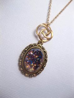 Hey, I found this really awesome Etsy listing at https://www.etsy.com/listing/466012011/amethyst-opal-necklace-gold-swirl-rose