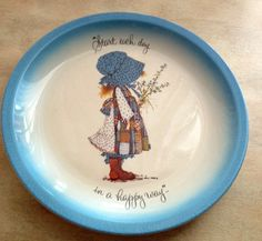 Holly Hobbie Plate | Vintage American Greetings | Collector Plate by TheLastFlamingo on Etsy https://www.etsy.com/listing/448923626/holly-hobbie-plate-vintage-american