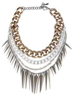DIY inspiration: spike and chain necklace