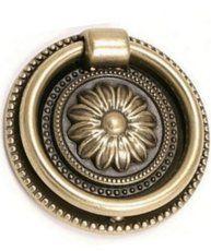 Handtag med ring ornament gammaldags antikguld mässing antik
