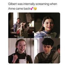 ✨✨ Zack Y Cody, Gilbert And Anne, Funny True Quotes, Gilbert Blythe, Anne With An E, Anne Shirley, Character Quotes, Seriously Funny, Kindred Spirits