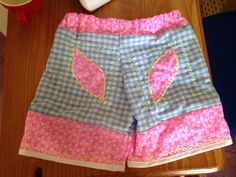 Easy pj shorts age 9yrs - bit bonkers as I've been too ill to sew for a wee while!!!
