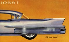 1958 Cadillac Sixty Special==would make a great print for my living room!