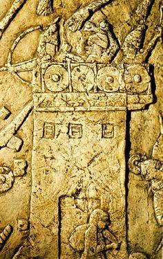 Rampa móvel equipada com aríetes (705-681 a.C.), Arte persa.