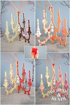 amp up a faux chandelier. would be so cute in a little girl's room.