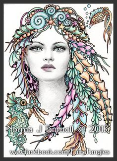 Dorianna of the Sea, Fairy Tangles by Norma J Burnell