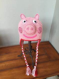 Peppa Pig Inspired Hat (You Choose Size)