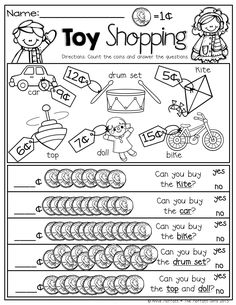 Printables Comparison Shopping Worksheets winter shopping with nickels and pennies prefect for adding up to toy counting comparing numbers