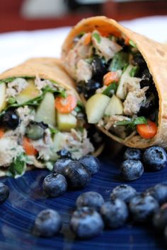 The Stay At Home Chef: Blueberry-Carrot Tuna Wraps