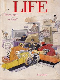 BAD WOMEN DRIVERS PATTERSON COVER ART GRAPHIC ILLUSTRATED LIFE MAGAZINE 1929
