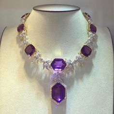 @therichgems. This masterpiece is for Amethyst lover! #amethystnecklace