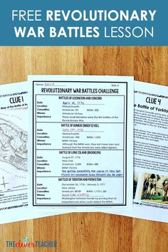 In this lesson, students learn about 8 important Revolutionary War battles by analyzing clues around the room. 7th Grade Social Studies, Social Studies Notebook, Teaching Social Studies, History Classroom, History Education, Teaching History, Revolutionary War Battles, American Revolutionary War, Education Middle School