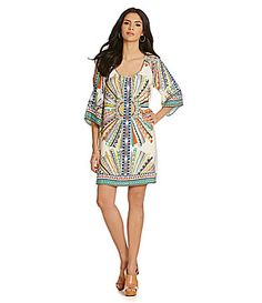 Gibson and Latimer Printed Tunic Dress #Dillards
