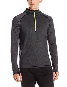 0e8b889f4dabb prAna Mens Breaker Hooded 14 Zip Shirt Black Medium *** Be sure to check