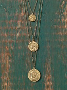 Free People Roman Coin Necklace, $28.00