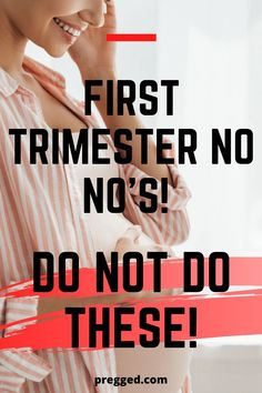 Here are a few things that you should NOT do during the first trimester of your pregnancy. Read about the dos and don't during your trimester. Check this pin for the tips! 1st Month Of Pregnancy, Pregnancy Signs, Trimesters Of Pregnancy, Pregnancy Months, Pregnancy Food List, Pregnancy Advice, Early Pregnancy, Pregnancy Health, 1 Week Pregnant
