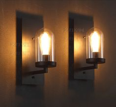 Creative American Industrial Wall Lamp LOFT Glass Sconce Vintage Coffee Apliques Pared Bedroom Bedside Light Modern Edison E27
