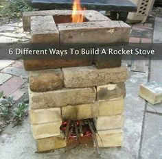 6 ways to build a rocket stove