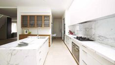 Australian House & Garden expert advice column on Calacatta marble and what it is used for.