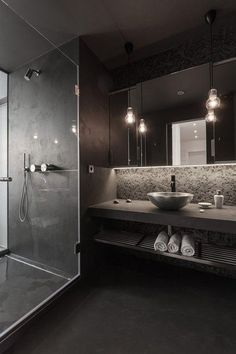 Gray bathroom countertop