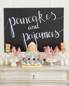 Pancakes and Pajamas: A. the best sleepover Party Idea Ever - - Pancakes and Pajamas: A. the best sleepover Party Idea Ever Desserts Pancakes and pajamas party! Photography : Ruth Eileen Photography Read More on SMP: www. 13th Birthday Parties, Birthday Party For Teens, Diy Birthday, Birthday Party Ideas For Teens 13th, Teen Party Themes, Birthday Morning, Party Themes For Kids, Toddler Birthday Themes, 13th Birthday Party Ideas For Girls