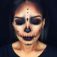 Dark Skull for Creepy Halloween Makeup Ideas